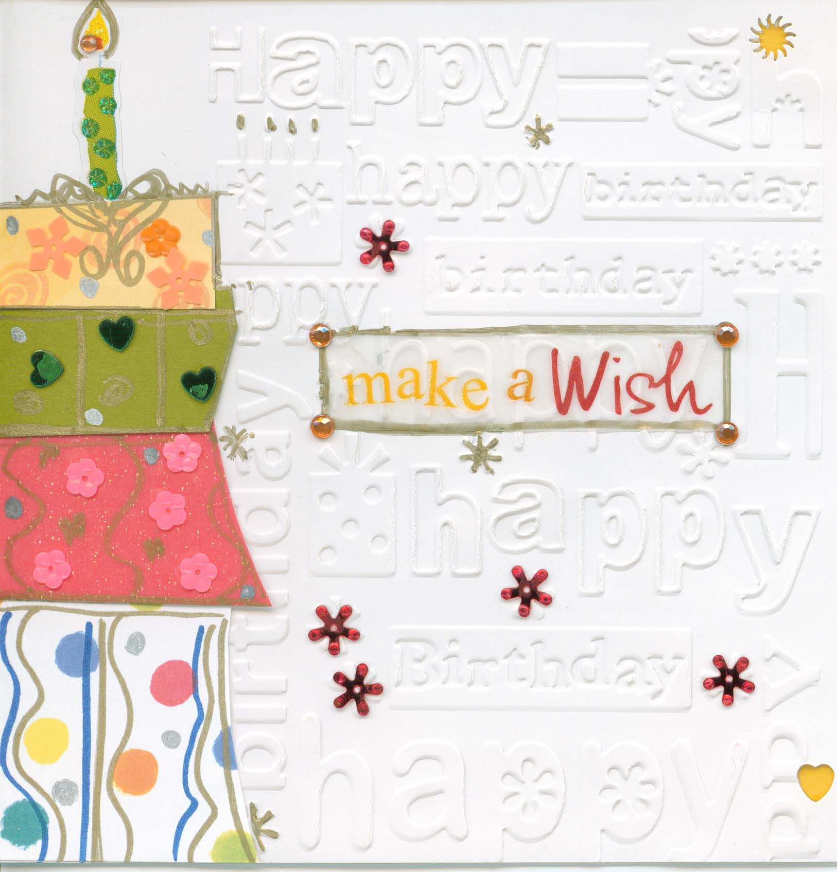 Greeting Card Happy Birthday Make A Wish Anthony Aquan