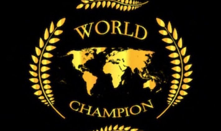 YOU ARE THE WORLD CHAMPION !!!